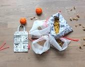 Set of Reusable Eco Food Bags / Bulk Bin Shopping Kit / Zero Waste Shopping Kit for Bulk Groceries