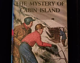 Vintage 1966 Hardy Boys The Mystery of Cabin Island #8