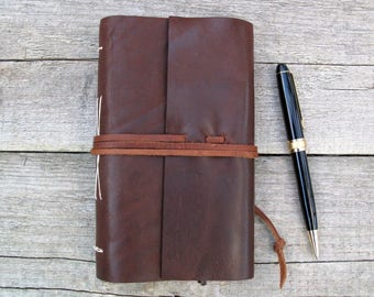 2018 Leather Planner / Monthly / Weekly / Daily Planner / Calendar Planner / Chocolate Brown Leather