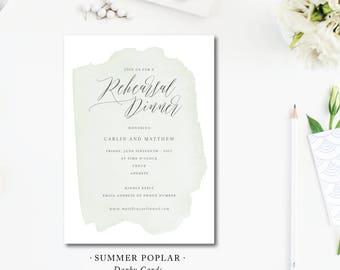 Summer Poplar Rehearsal Dinner Invitations