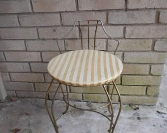 Vintage Hollywood Regency Vanity Chair Stand Mid Century