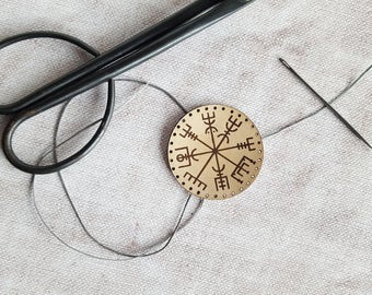 Vegvísir leather patch, icelandic compass runic patch icelandic stave viking patches old norse mythology iceland patch vegvisir rune gift