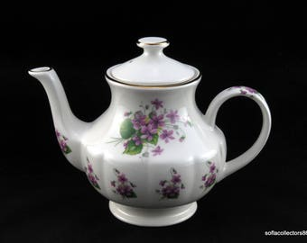 Arthur Wood & Son English Teapot - Winton Blank with 6295 Violets Decor