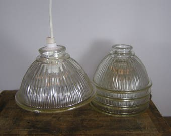 PROJECT. Make a Hanging Lamp. Take a charming salvaged rippled Glass Light Cover Shade from a 1925 Bungalow Fixture and Add a Lighting Kit.