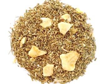 Banana Caramel Cinnamon Herbal Tea, Loose Leaf, Green Rooibos, Banana Tea, Fruit Tea ,Iced Tea, Caffeine Free, Eco Box, BANANAS FOSTER