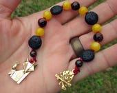 Loki Mini Prayer Strand - Pocket prayer beads, travel prayer beads, pagan prayer beads - Norse trickster