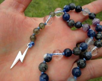 Zeus Pagan Prayer Beads / Mini Mala / Mini Rosary - Greek / Hellenic King of the Gods, Ruler of Mount Olympus
