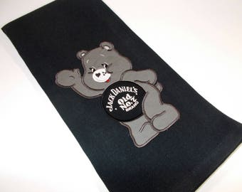 JD towel - Jack Daniels  - Funny towel - embroidered kitchen towel - JD lover gift - 10 dollar gift - Old No 7- Jack Daniels - Care Bear