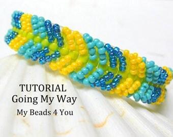 PDF Beading Tutorial, Beaded Bracelet Pattern, Beadweaving Tutorial, Pattern, Seed Bead Tutorial, PDF Beaded Bracelet Pattern, Beadwoven