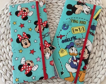 Long Travel Wallet for Passport and Boarding Pass, Wanderluster, International, Disney Fabric, Holds 1-2 Passports, Travel Accessory