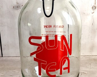 Vintage Sun Tea Glass Jar 3L