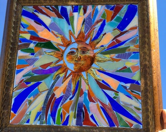 Stained Glass Sun Window Art Sun Catcher
