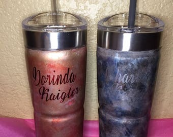 His and hers 24 oz stainless steel tumbler