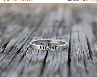 SALE SALE SALE Personalized Sterling Silver Stackable Rings - Customizable Name Jewelry - Stacker Stacking Rings - Mother Daughter Jewelry