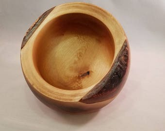 Scorched Birch Wood Bowl