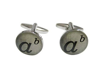 Mathematical A to the Power of B Cufflinks