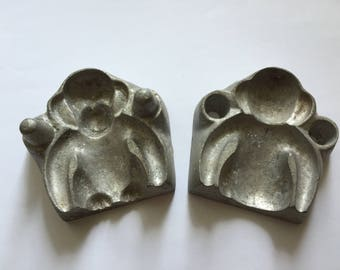 Antique Metal Marzipan/Candy Mold ''Monkey'',  Numbered # 1201 Carel van Laere, Leiden, Holland.