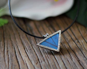Real butterfly necklace Butterfly wing jewelry Taxidermy jewelry Gift for women Insect jewelry Butterfly wing pendant Blue Morpho Butterfly