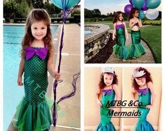 MERMAID STAR- little mermaid dress, mermaid dress costume, mermaid party costume, mermaid outfit,  little mermaid costume,