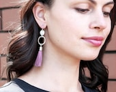 Hammered Tassel COIN Statement Earrings - silk tassels silver or gold  - Next Romance Jewels Melbourne Australia boho luxe