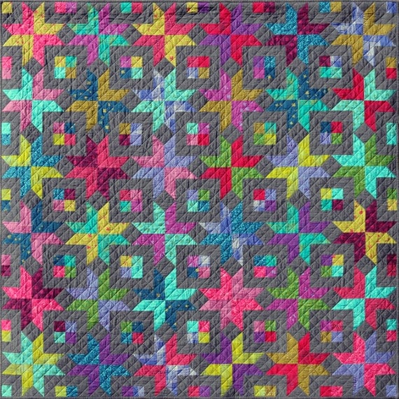 Bronte's Stars Quilt Pattern PDF by Emma Jean Jansen - Immediate Download
