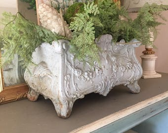 Stunning Massive Antique Cast Iron French Jardiniere Cast Iron Planter 1800s From France French Urn