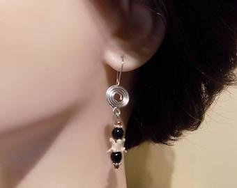 Earrings Real Bone Jewelry / Womens Gift