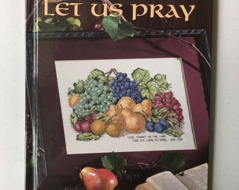 Let Us Pray Counted Cross Stitch Pattern Book by Leisure Arts, Christian Themed Cross Stitch Patterns