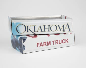 Oklahoma license plate box - father's day gift - gift for mom's dad's and grad's - teacher gift - graduation gift - graduation gift box