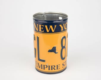 New York License Plate Pencil Holder - Back to School supply - Dorm Room Decor - Graduation Gifts - New York souvenir