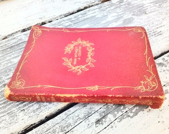 Man Without a Country ~ Edward Everett Hale ~ Red Leather Cover ~ Gold Lettering ~ Vintage Ariel Booklets / Book~