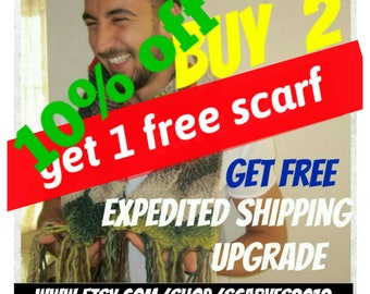 Buy 2 get 1 free scarf 10 % discount coupon code upgrade express shipping-except sale scarf scarves-Men-women Fashion accessories gift