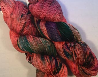 I C Spots - Red - Fingering / Sock Yarn