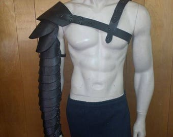 Leather Armor Spartacus Gladiator Manica full arm