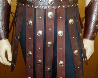 Leather Armor Roman Gladiator War Skirt