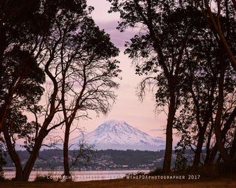 Washington Photography | Mt. Rainier | Mountain Print | Pacific Northwest Photo | Landscape Photo | Puget Sound | Washington State