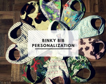 Binky Bib Personalization-Add a Name
