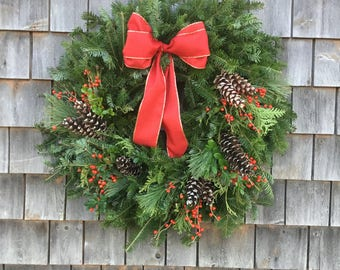 Perfect Traditional Evergreen Wreath
