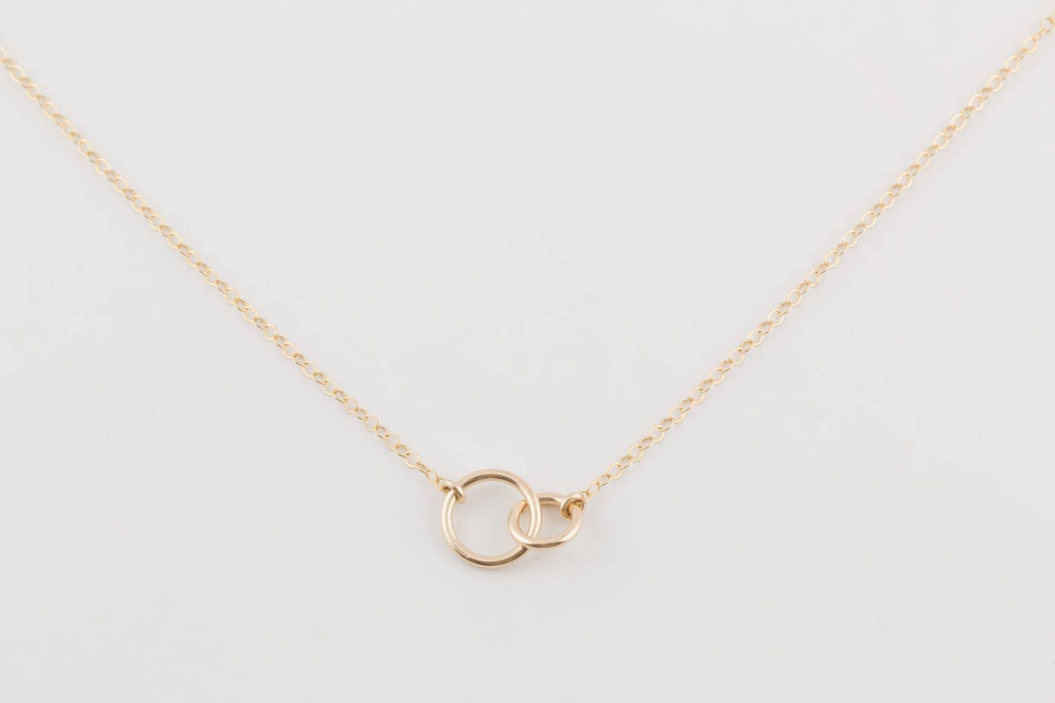 Eternity Necklace 40th Birthday Gift Gold Necklace Gift Box
