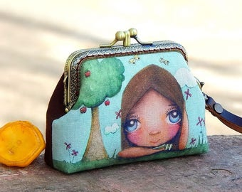 Wristlet clutch two compartment
