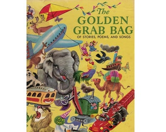 The Golden Grab Bag, Tibor Gergely book, Little Golden books, vintage golden books,  children's picture book collection, hard to find