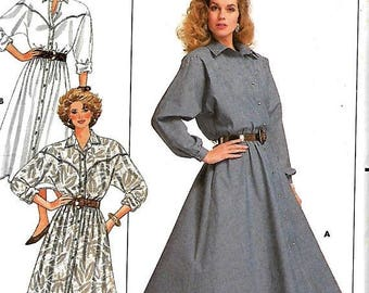 ON SALE Butterick David Warren Misses Dress Pattern, 8-10-12, UNCUT