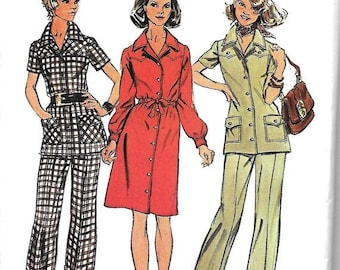 ON SALE Simplicity 5735 Misses Half Size Dress Or Tunic And Pants Pattern, Size 18 1/2, Bust 41, UNCUT