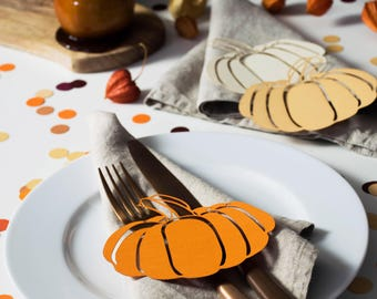 Pumpkin Table Decorations - Table Decorations for Thanksgiving - Rustic Place Setting - Rustic Thanksgiving Table Decor - Thanksgiving Table