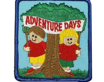 Scouts Adventure Days Badge Patch Scout Day Camp Embroidered Iron On Applique