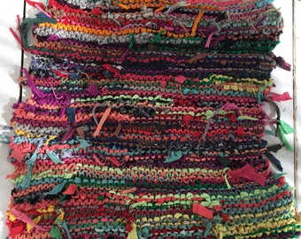 LULA hand knitted floor rug