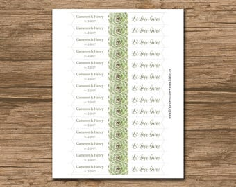 "Succulent Flag 3x0.75"" - PRINTABLE file Wedding Straw Flags, Party Flags, Cupcake Toppers - personalized - Cameron"
