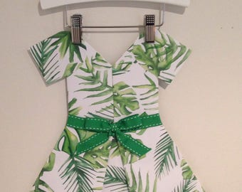 Palm leaf paper dress