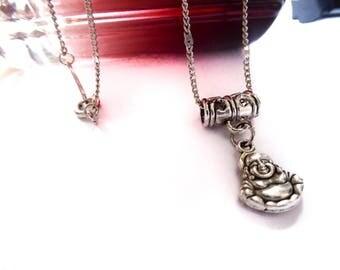 Necklace silver ♰Silver Bouddha♰ religion spirit Tierracast