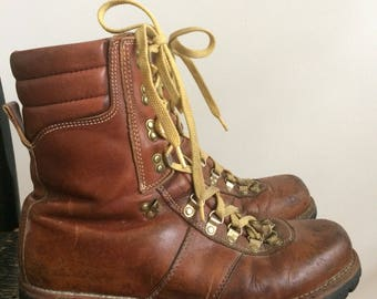 Vintage men's leather hiking boot Thinsulate size 12 12D Montblanc Sears